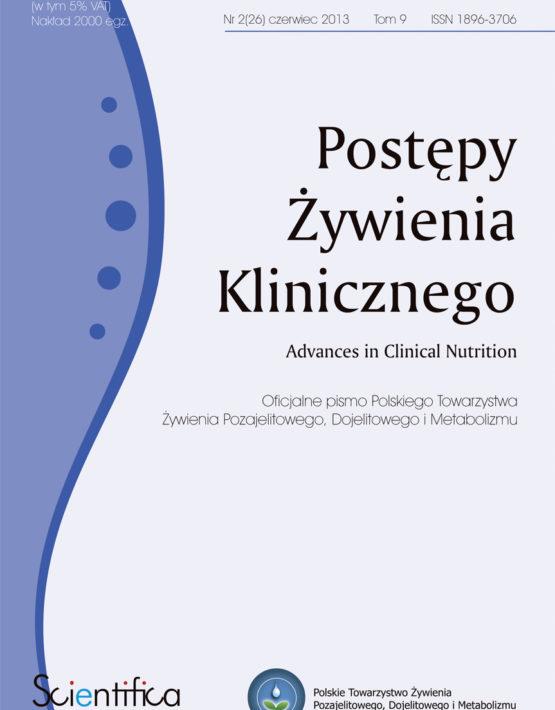 Postępy Żywienia Klinicznego Numer 2.2013 Czerwiec