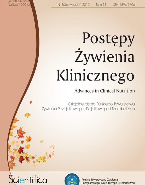Postępy Żywienia Klinicznego Numer 3.2015 wrzesień